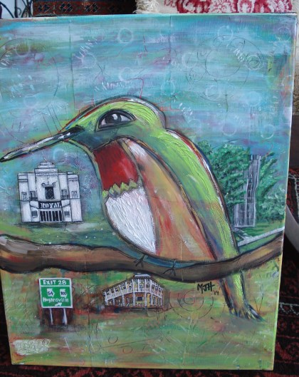 The winning 2014 painting by Hogansville artist Melissa Howington
